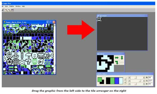 You May Select A Tile For Editing By Left Clicking Either In The Box Containing Graph Ics Or Arranger